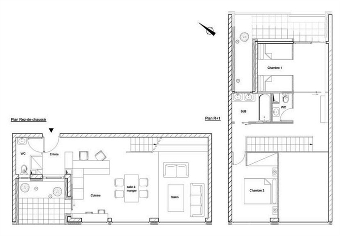 plan appartement mono oriente